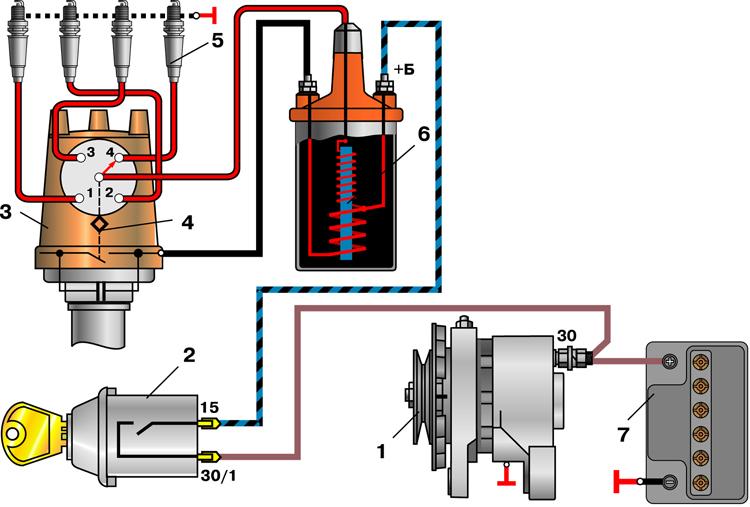 Схема подключения кулачкового зажигания ваз