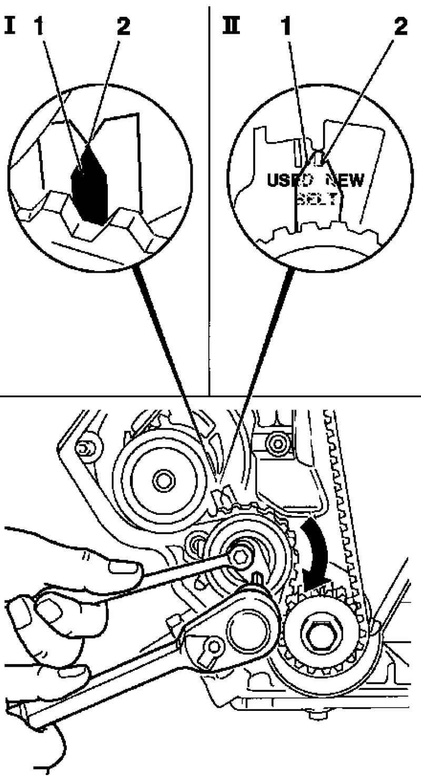 схема ремня грм на опель зафиру в