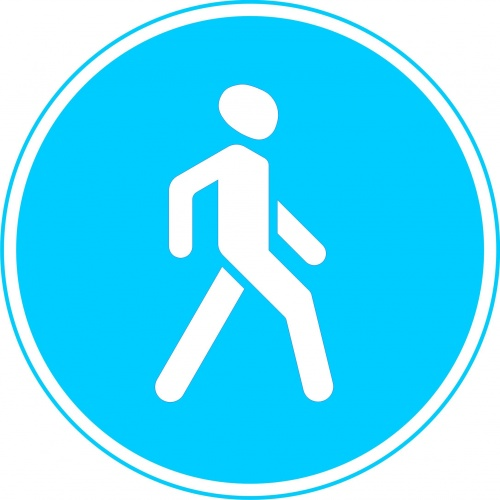остановка за знаком пешеходная дорожка