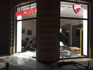Салон Ducati стал жертвой футбольных фанатов