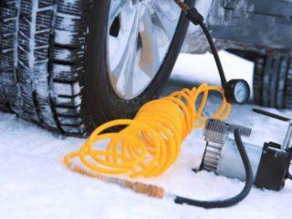 Какого давления шин рекомендуется придерживаться зимой