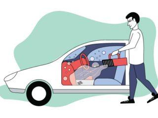 Как самостоятельно дезинфицировать салон автомобиля
