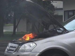 Как действовать при возгорании автомобиля